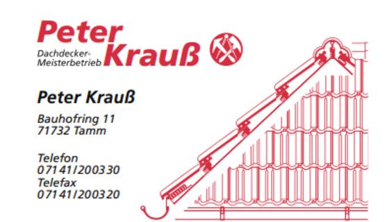 Peter Krauß Dachdecker-Meisterbetrieb
